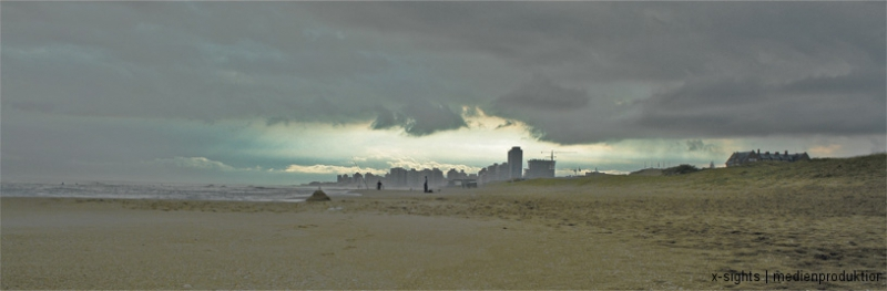 against the backdrop of Punta del Este