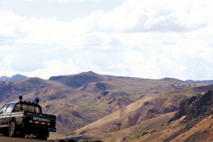 on the road - the Andes